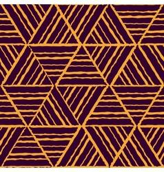 seamless yellow geometric pattern vector image vector image