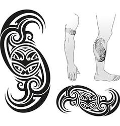 Taniwha swirl vector image vector image