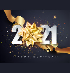 2021 happy new year greeting banner happy new vector