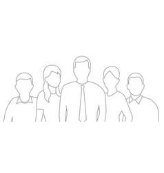 a group people workers team teamwork work vector image