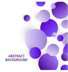 abstract background with violet circles vector image