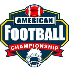 American football championship logo design vector