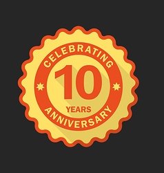 Anniversary emblem logo template Flat style icon vector image