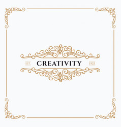 beautiful creative card vector image