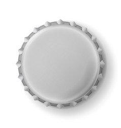Beer cap metallic bottle cap isolated on vector