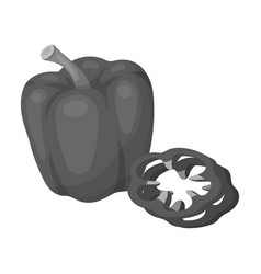 Bell pepperbbq single icon in monochrome style vector