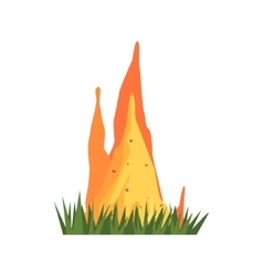Burning Termite Nest Jungle Landscape Element vector image vector image