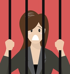 Business woman in prison vector image