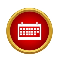 Calendar Icon simple style vector image