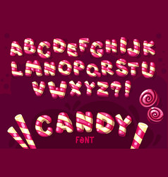 candy cartoon font vector image