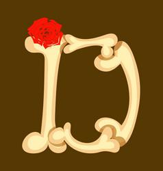 capital beige font f letter of english alphabet vector image