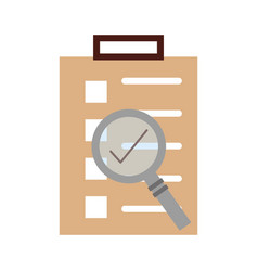Checklist order delivery service with magnifying vector
