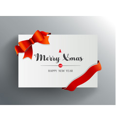christmas greeting card with merry xmas wishes vector image