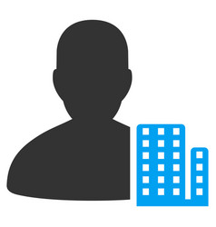 City architect flat icon vector