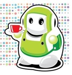 Coffee Robot vector