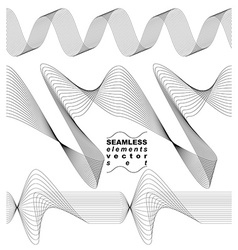 Collection of dimensional motif elegant flowing vector