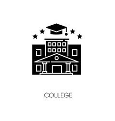 College black glyph icon vector