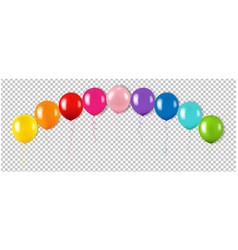 Colorful garland with balloon isolated vector