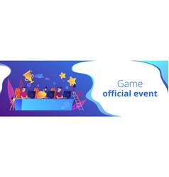 e-sport tournament concept banner header vector image