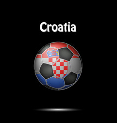flag of croatia in the form of a soccer ball vector image