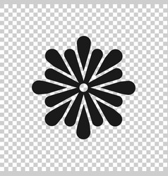 flower leaf icon in transparent style magnolia vector image