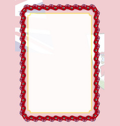 Frame and border of ribbon with bermuda flag vector