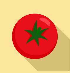 fresh tomato icon flat style vector image