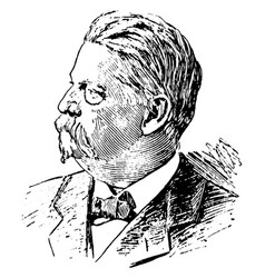 general w s hancock vintage vector image