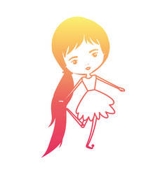 girly fairy without wings and long hair with vector image