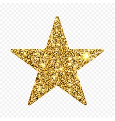 Gold glitter star golden sparcle amber vector