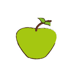 green apple fruit diet vector image