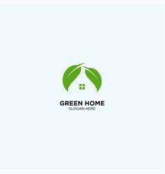 Green home logo template vector