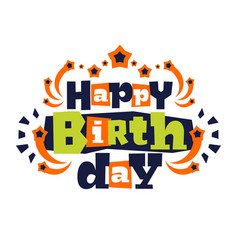 greeting card on his happy birthday letters in vector image