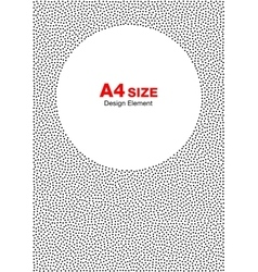 Halftone Dots Frame Circle Background A4 size vector image