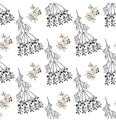 Hand drawing decorative floral and herbs vector