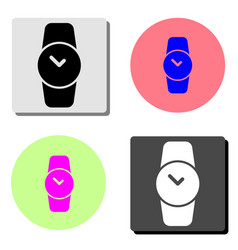 hand watch clock flat icon vector image