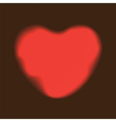 Heart red shape on dark background vector
