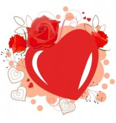 heart shaped frame vector image