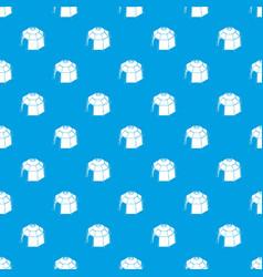 Hexagonal tent pattern seamless blue vector