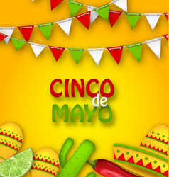 holiday celebration poster for cinco de mayo vector image vector image