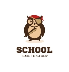 Isolated wise owl logo School logotype vector