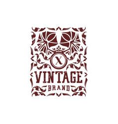 Letter x vintage logo design vector