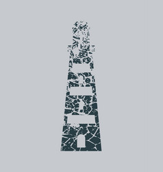 Lighthouse monochrome icon vector