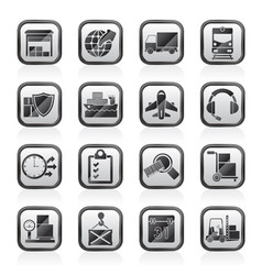 logistic cargo and transportation icons - vector image