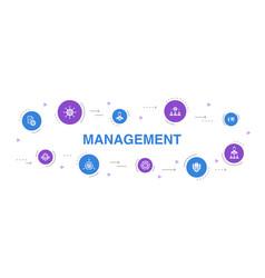Management infographic 10 steps circle design vector