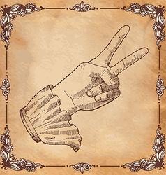 Mans hand gesture vector