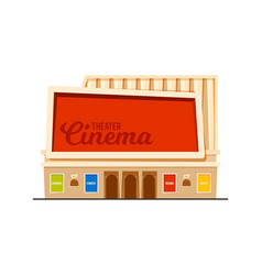 modern cinema theatre building vector image