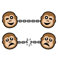 Monkey symbols vector