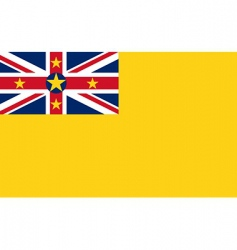 niue flag vector image