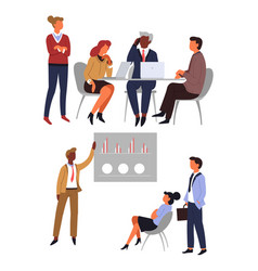 office workers business meeting and conference vector image
